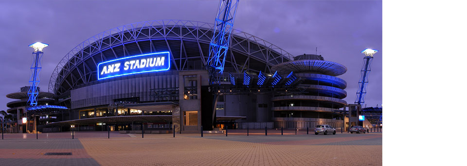 ANZ StadiumANZ Stadium, formerly Stadium Australia and the centerpiece of the 2000 Olympics. ANZ Stadium is currently serviced by MACT under a five year fully comprehensive contract. This arrangement takes all responsibility of budgeting and risk management off the client and ensures the highest degree of maintenance.